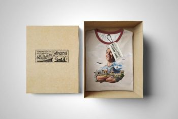 T-Shirt Box Edition Mockup Freebie