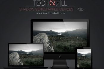Dark Apple Devices Mockup Freebie