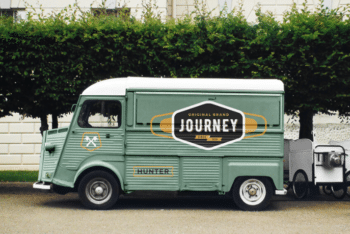 Use Food Truck PSD Mockup to Create Strong Brand Awareness