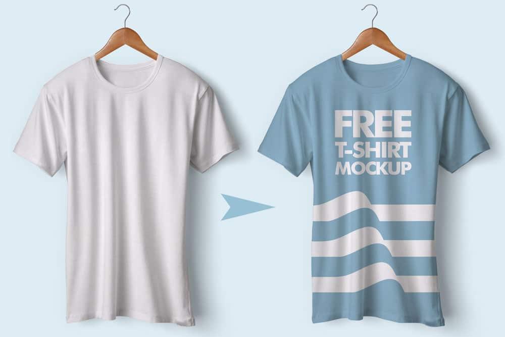 free tshirt psd mockup