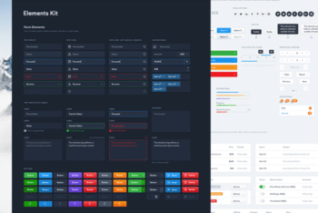 Free Element Dashboard UI kit for Photoshop and Sketch