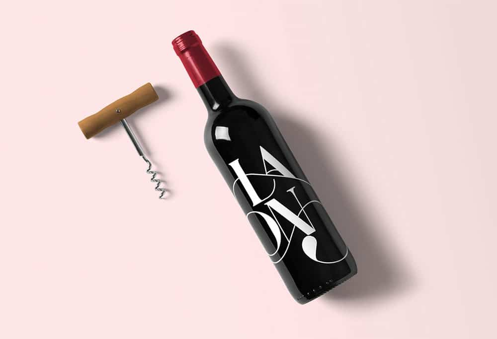 Wine Bottle Plus Corkscrew