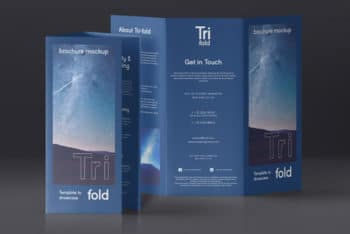 Tri Fold Brochure PSD Mockup to Meet Your Business Promotion Needs