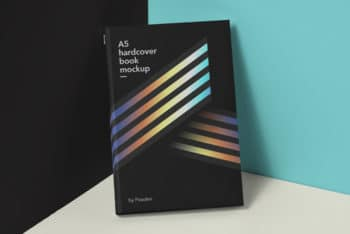 Book Hardcover PSD Mockup Available in A5 Size