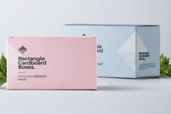 Rectangular Shaped Box PSD Mockup for Packaging Purpose
