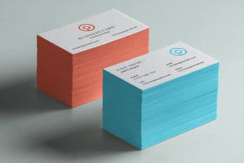 Stack of Free Business Card Mockup Available in PSD Format