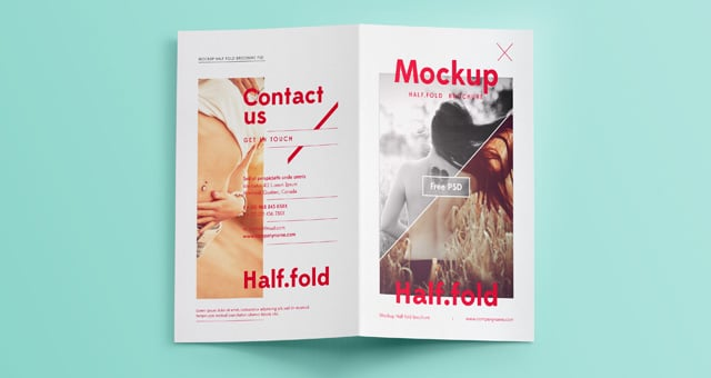 Bi Fold Brochure Psd Mockup Download For Free Designhooks