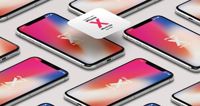 Stylish iPhone X PSD Mockup Design