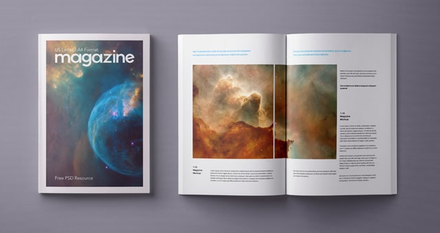 A4 Sized Magazine PSD Mockup Design