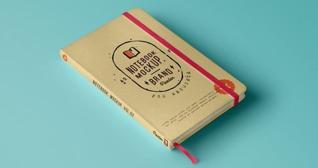 Notebook PSD Mockup Design
