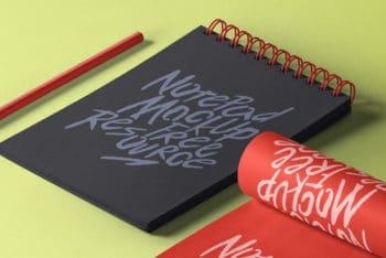 Classy Designed Notepad PSD Mockup