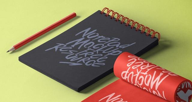 Notepad PSD Mockup Design