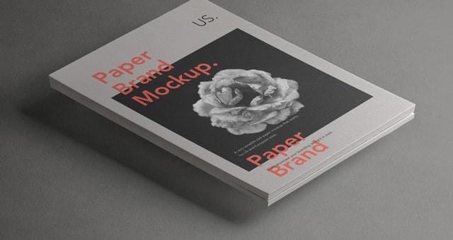 Paper Letterhead PSD Mockup Design