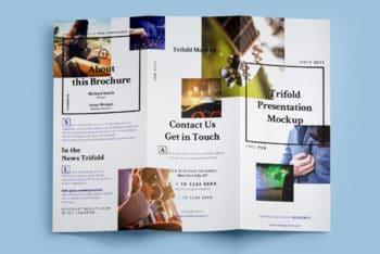 Brochure PSD Mockup in Tri-fold Design