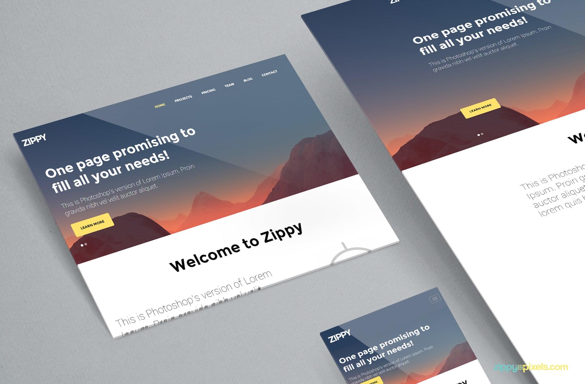 Beautiful Perspective Website