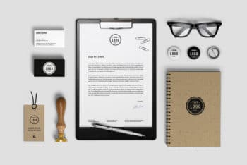 Free Customizable Branding Identity Mockup in PSD