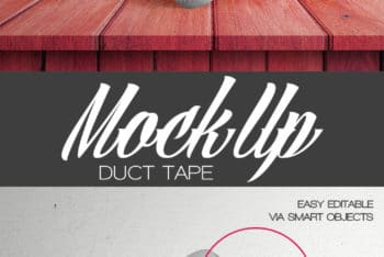 Free Customizable Duct Tape Mockup in PSD