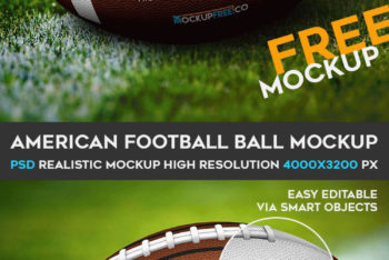 Free American Football Mockup in PSD