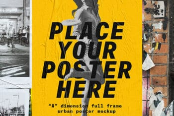Urban Poster Mockup Freebie in PSD