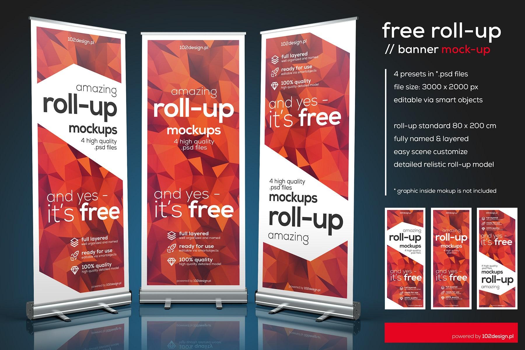 Customizable Roll-up Mockup