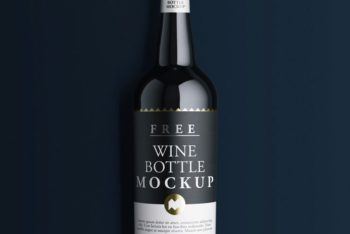 Wine Bottle PSD Mockup with Classy Look & Useful Features