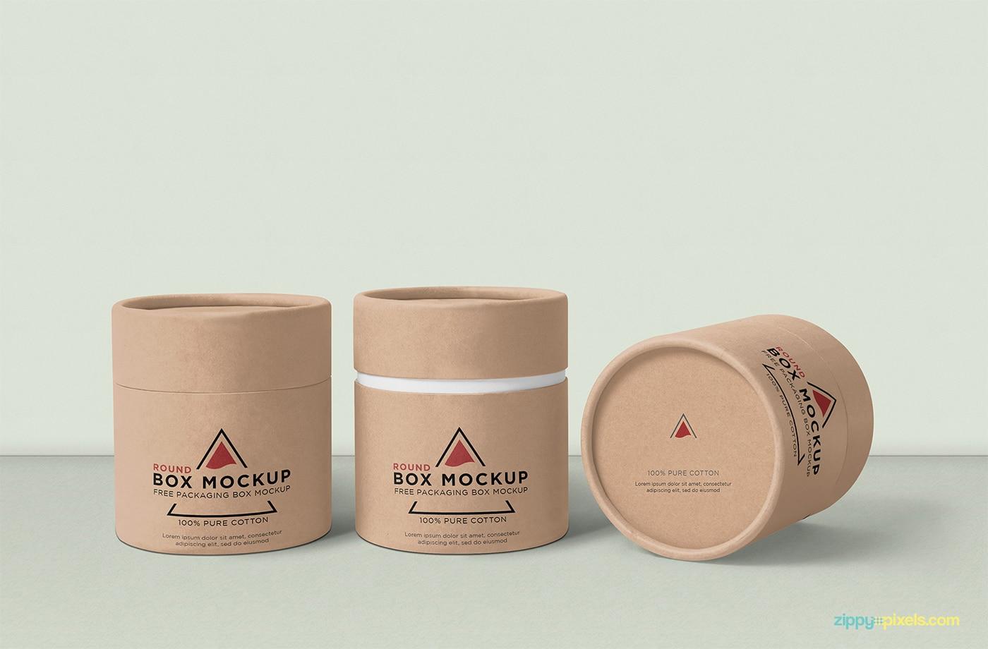 Round Box Mockup