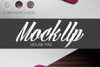 Free Customizable Mousepad Mockup in PSD
