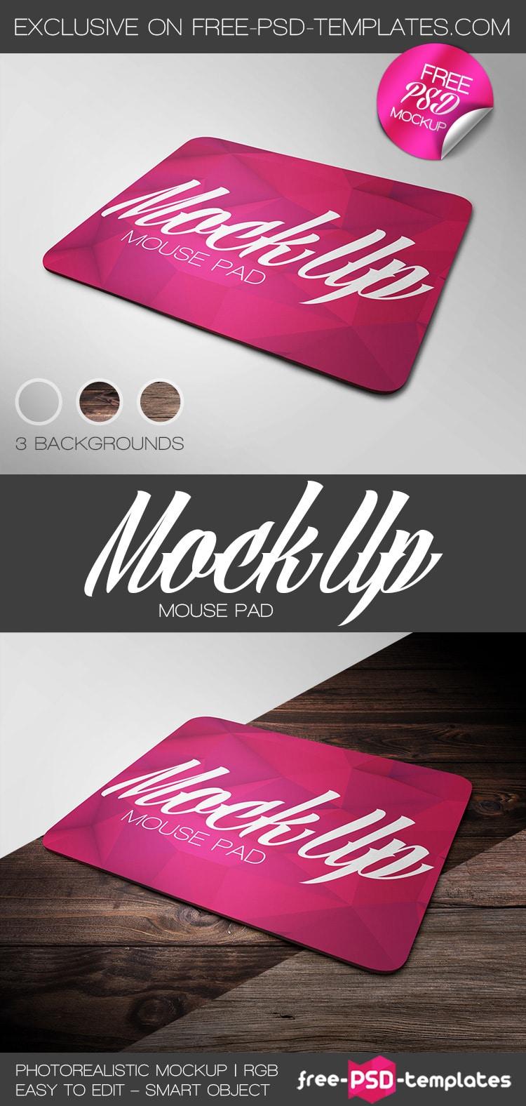 Customizable Mousepad Mockup