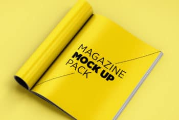 Free Magazine Mockup Pack in PSD