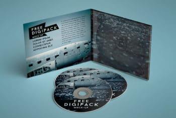 Free Customizable Digipack Mockup in PSD
