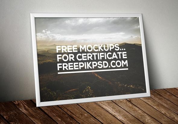 Framed Certificate Mockup