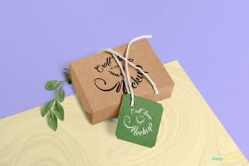 Free Craft Box Soap Mockup in PSD