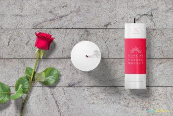Gorgeous Candle Scene Mockup Freebie