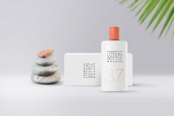 Handy Cosmetic Lotion Bottle PSD Mockup