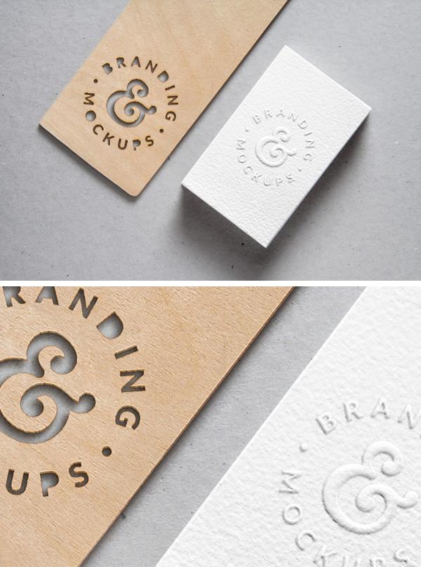 Cutout Wood Plus Embossed Card