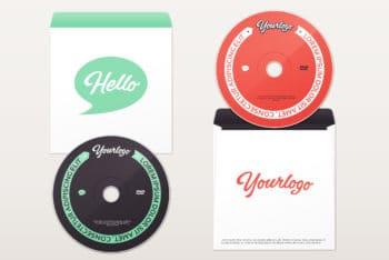 DVD Plus Envelope Mockup Freebie