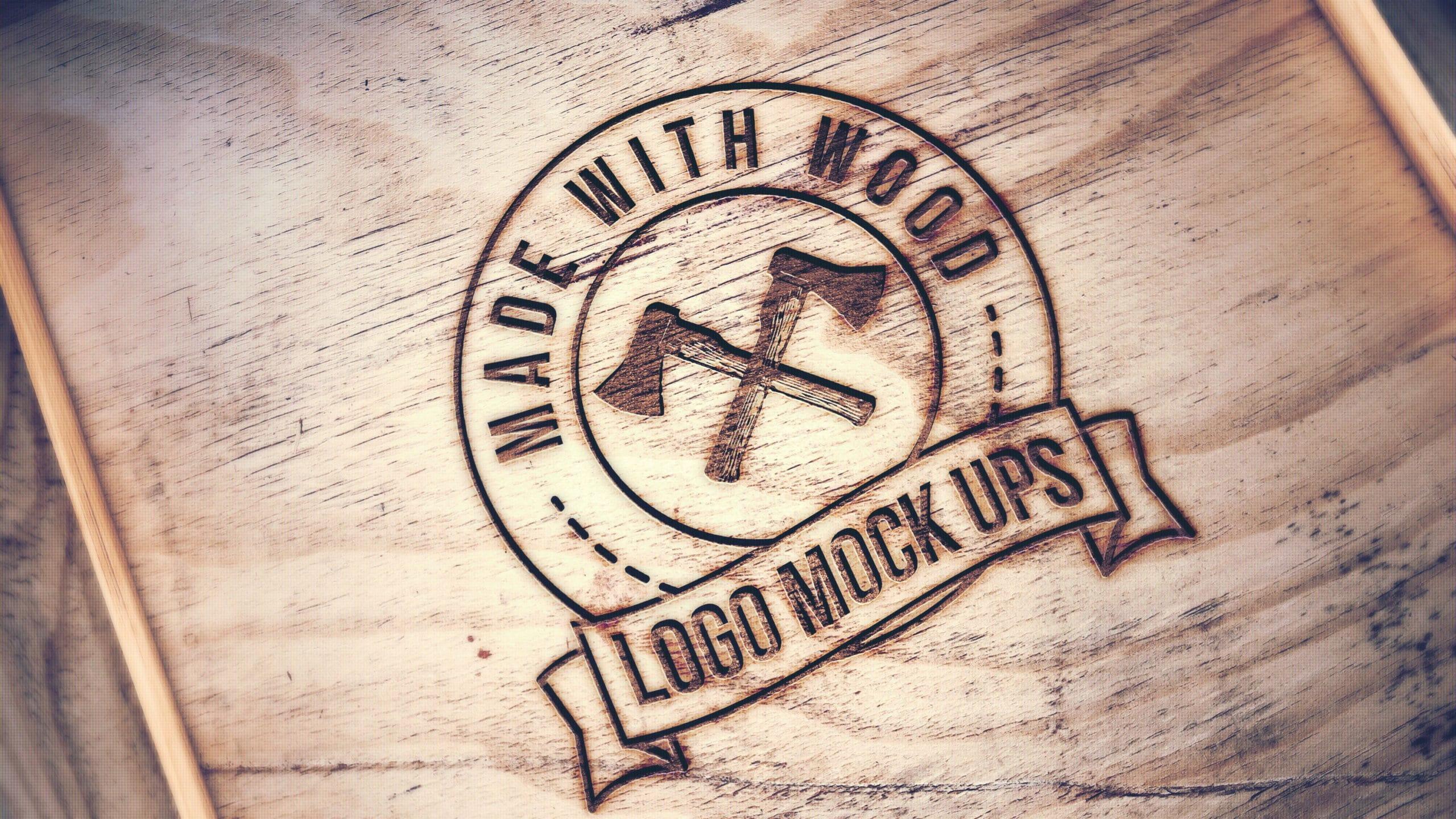 Engraved Wood Mockup