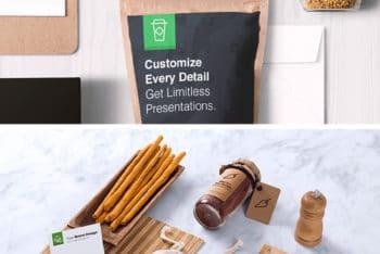 Food Packaging Plus Branding Mockup Freebie