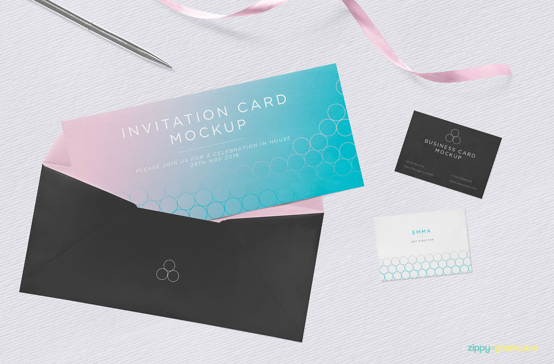 Free stylish invitation mockup in psd designhooks free stylish invitation mockup in psd stopboris Images