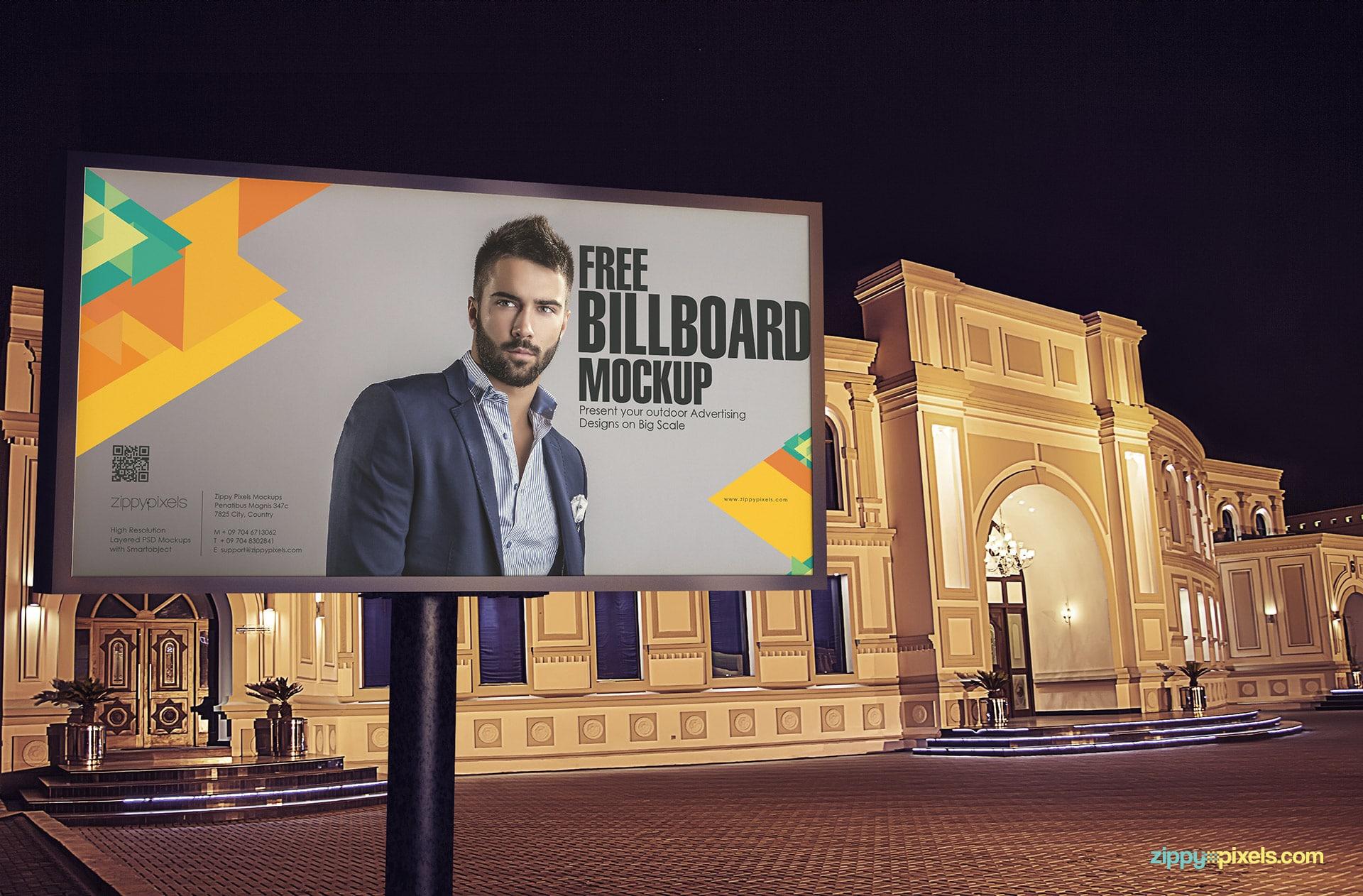 Billboard PSD Mockup Design