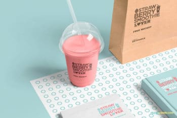 Transparent Plastic Cup Mockup Freebie