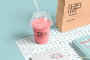 Transparent Plastic Cup Mockup Freebie