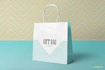 Wonderful Gift Bag PSD Mockup