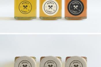 Customizable Honey Jars PSD Mockup Freebie