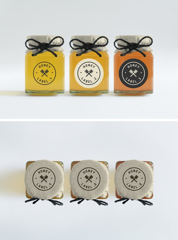 Honey Jars PSD Mockup