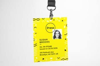 Customizable ID Card PSD Mockup Freebie