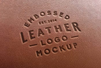 Leather Stamping Logo Mockup Freebie