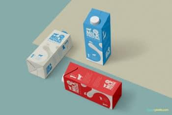 Attractive & Useful Milk Carton PSD Mockup
