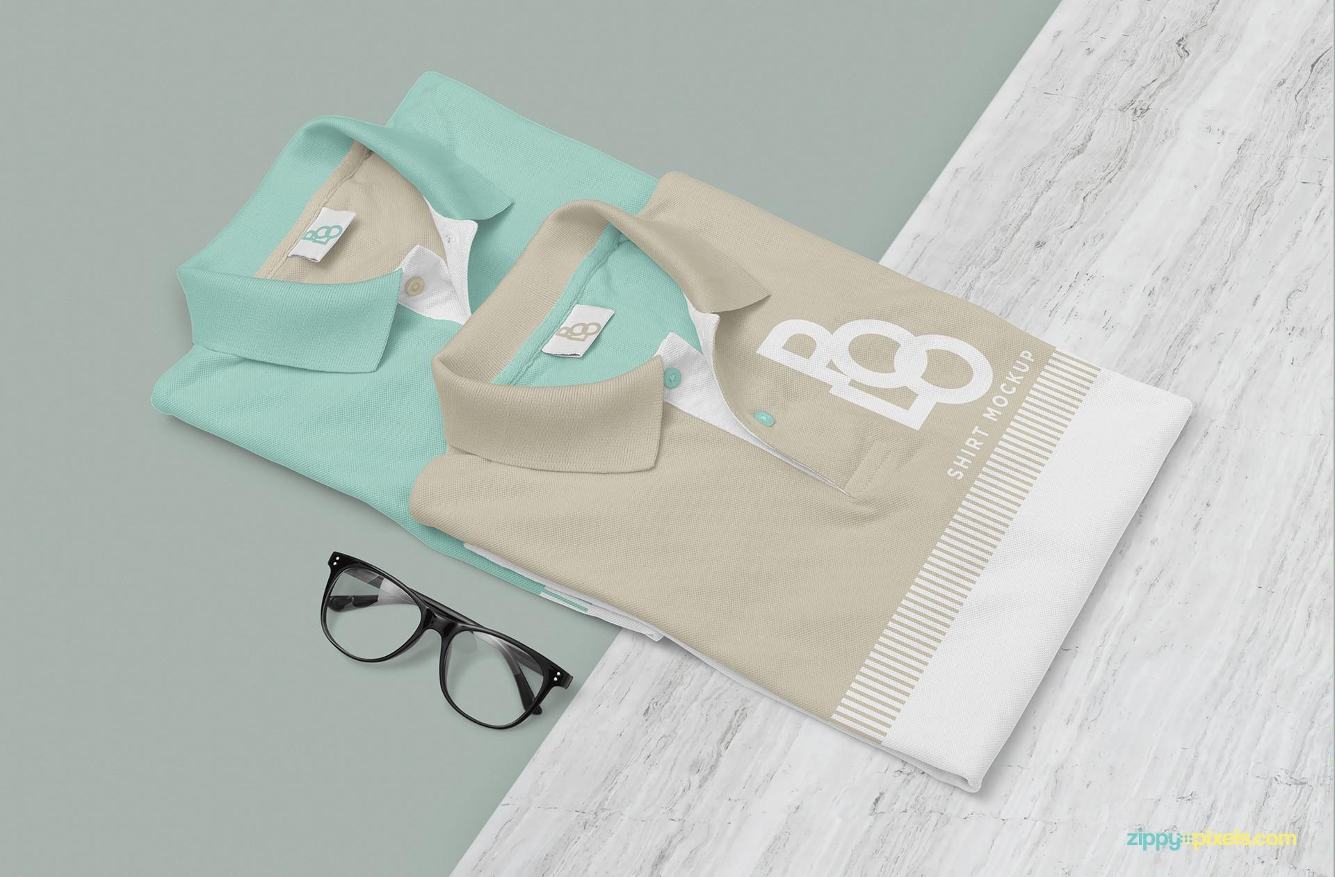Free Polo T-shirt PSD Mockup Design