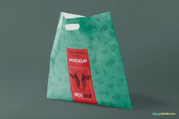 Presentable Plastic Bag PSD Mockup